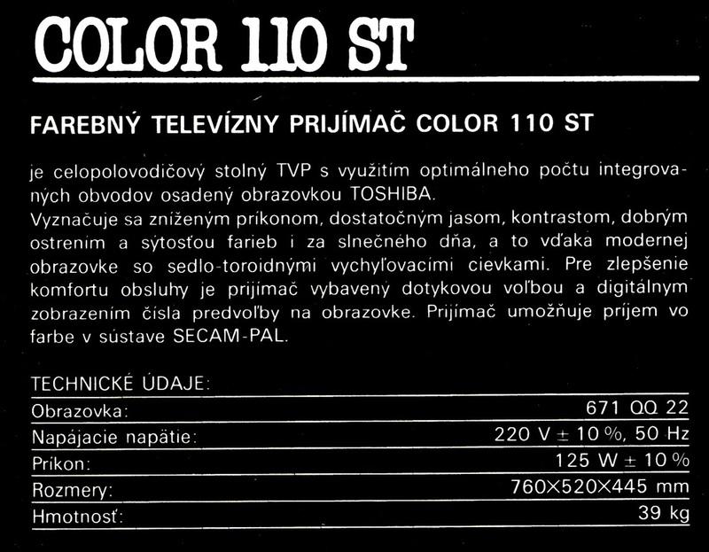 d35dadc32 Tesla, 4415A, Color 110 ST(Televízor)